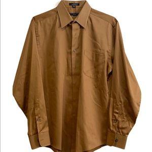 Geoffrey Beene Fitted Sateen Button Up Shirt